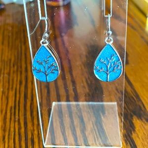 Lovely blue and sterling silver earrings